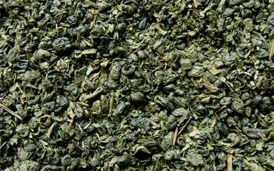 té verde moruno gunpowder con hierbabuena