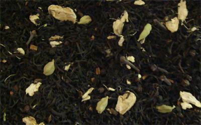 Té negro chai con jengibre, canela, clavo, pimienta y cardamomo