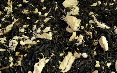 té negro coreano con ginseng