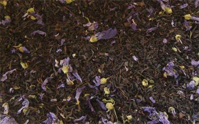 té negro earl grey con bergamota y flores de malva