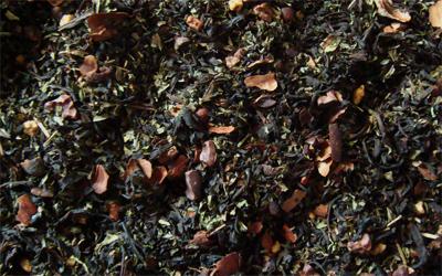 té negro con menta y chocolate