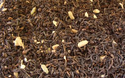 Té rojo chino puerh chai con especias