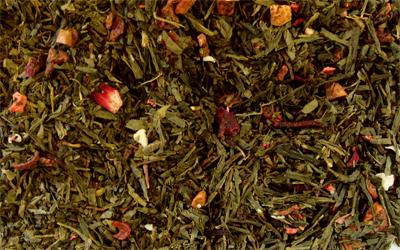 Té verde y rojo Puerh Silueta con kiwi y fresa